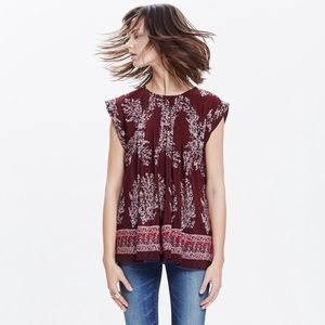 Madewell silk printed top❤️